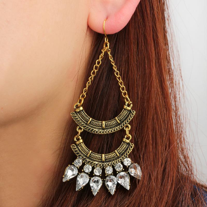 Alloy Fashion Geometric earring(Bronze) NHGY1707-Bronze