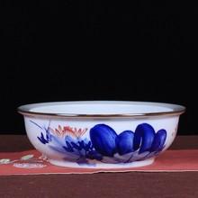 熙鼎陶瓷工艺品手绘青花瓷碗酒店餐具 景德镇陶瓷盆一件代销批发