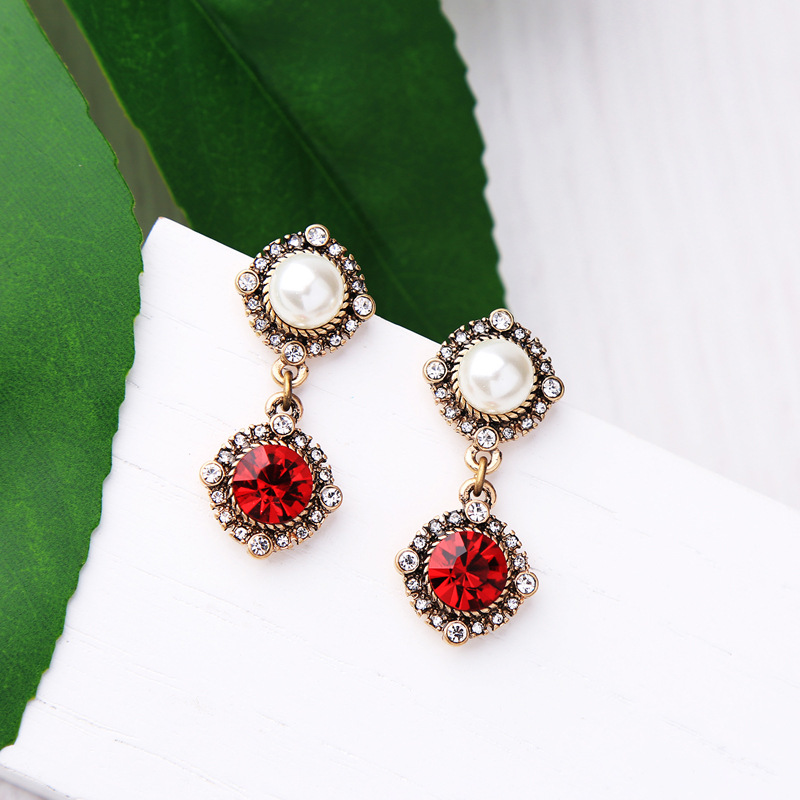 Alloy Fashion Geometric earring(Photo Color) NHQD5144-Photo Color