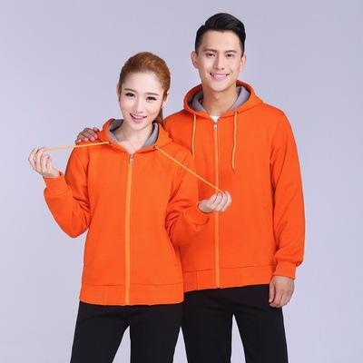 卫衣定制印logo运动会班服DIY设计定做立领外卖工作服外套棒球服