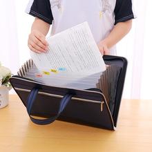风琴包帆布a4多层手提拉链文件袋学生试卷夹资料公文包文件包定制