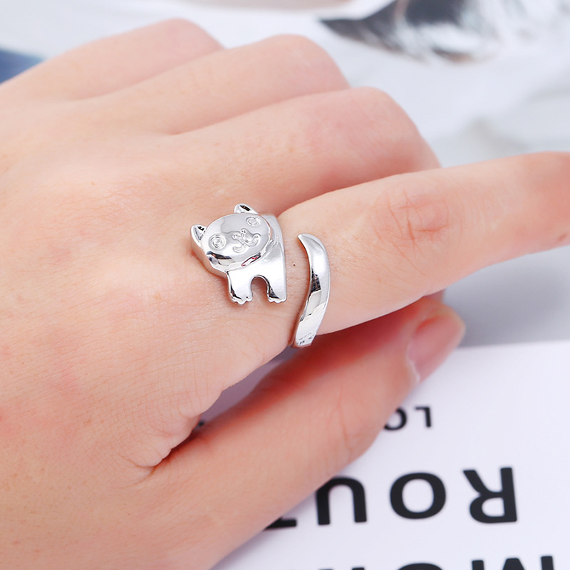 Alloy Korea Animal Ring  (White K white) NHKQ1868-White-K-white