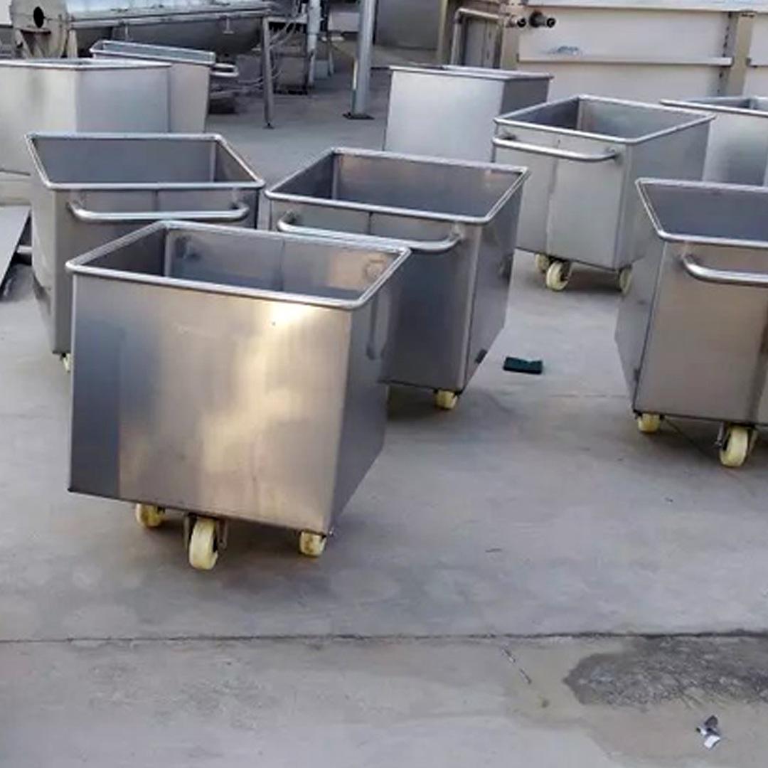 不锈钢小料车价格圆角桶车不锈钢肉料车,料斗车,肉车桶车运料方便