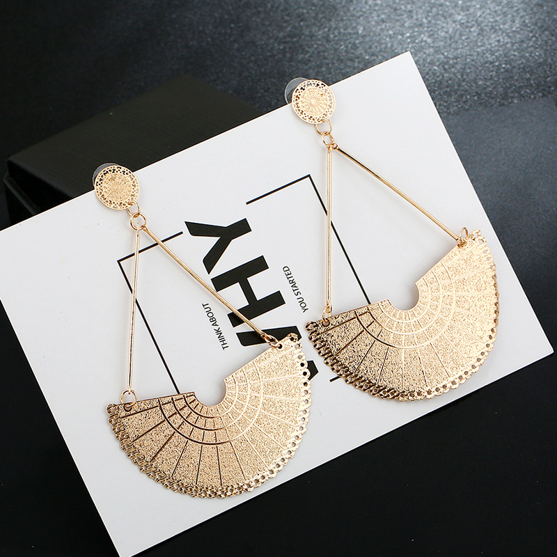 Alloy Fashion Geometric earring  (KC alloy and alloy) NHKQ1705-KC-alloy-and-alloy