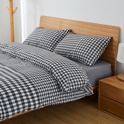 批发无印同厂日式全棉水洗棉四件套纯棉被套床单床笠外贸厂家直销