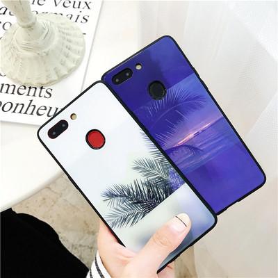 New oppo r15 Dreamland Glass Vỏ Điện Thoại Di Động vivo X21 Vỏ Điện Thoại Di Động Bìa Sáng Tạo 4.29