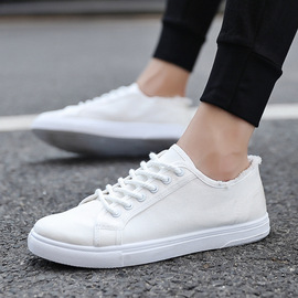 Ins student tide summer casual canvas shoes flat strap men's shoes candy color breathable running shoes men