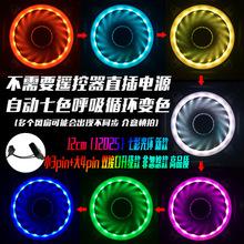 光芒RGB机箱风扇 12cm台式电脑散热静音 双光圈幻彩变色极光日食