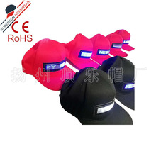 供应批发 时尚横向滚动信息LED显示屏帽可USB充电发光帽