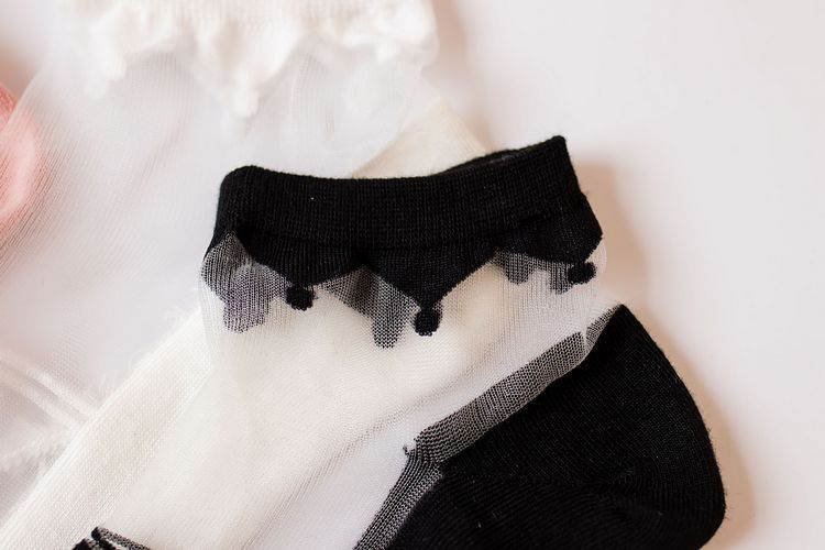 summer women's socks wholesale new retro cotton plus card socks short tube cotton socks glass stockings ultra-thin NHFN216593