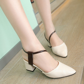 Spring sandals casual shoes women's sandals fashion beach shoes Baotou with thick heel