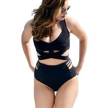 欧美性感bikini 外贸原单高腰遮肚显瘦大码绑带分体比基尼