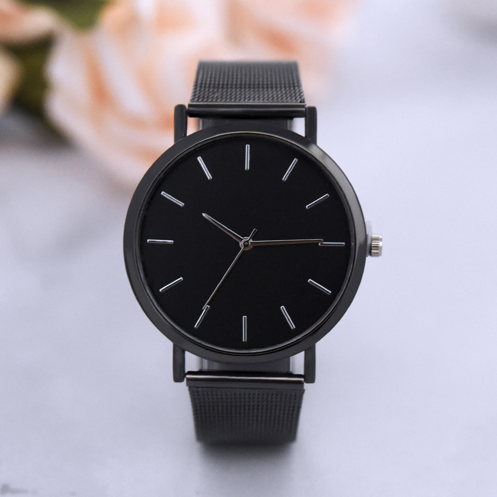 Simple scale trend fashion mesh with quartz watch NHHK143354