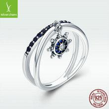 维洛柯 欧美时?#34892;?#27454;纯银饰品S925银戒指女性船锚个性指环饰品