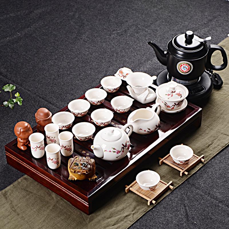 厂家直销整套实木茶盘紫砂功夫茶具套装家用商务礼品定制LOGO批发