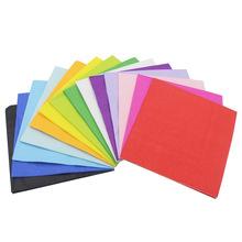 【现货】彩色印花餐巾纸 纯色创意纸巾 面巾纸餐巾纸25*25cm