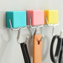 創意免打孔糖果色掛鉤磁性掛鉤 多功能無痕掛鉤 居家磁力掛鉤