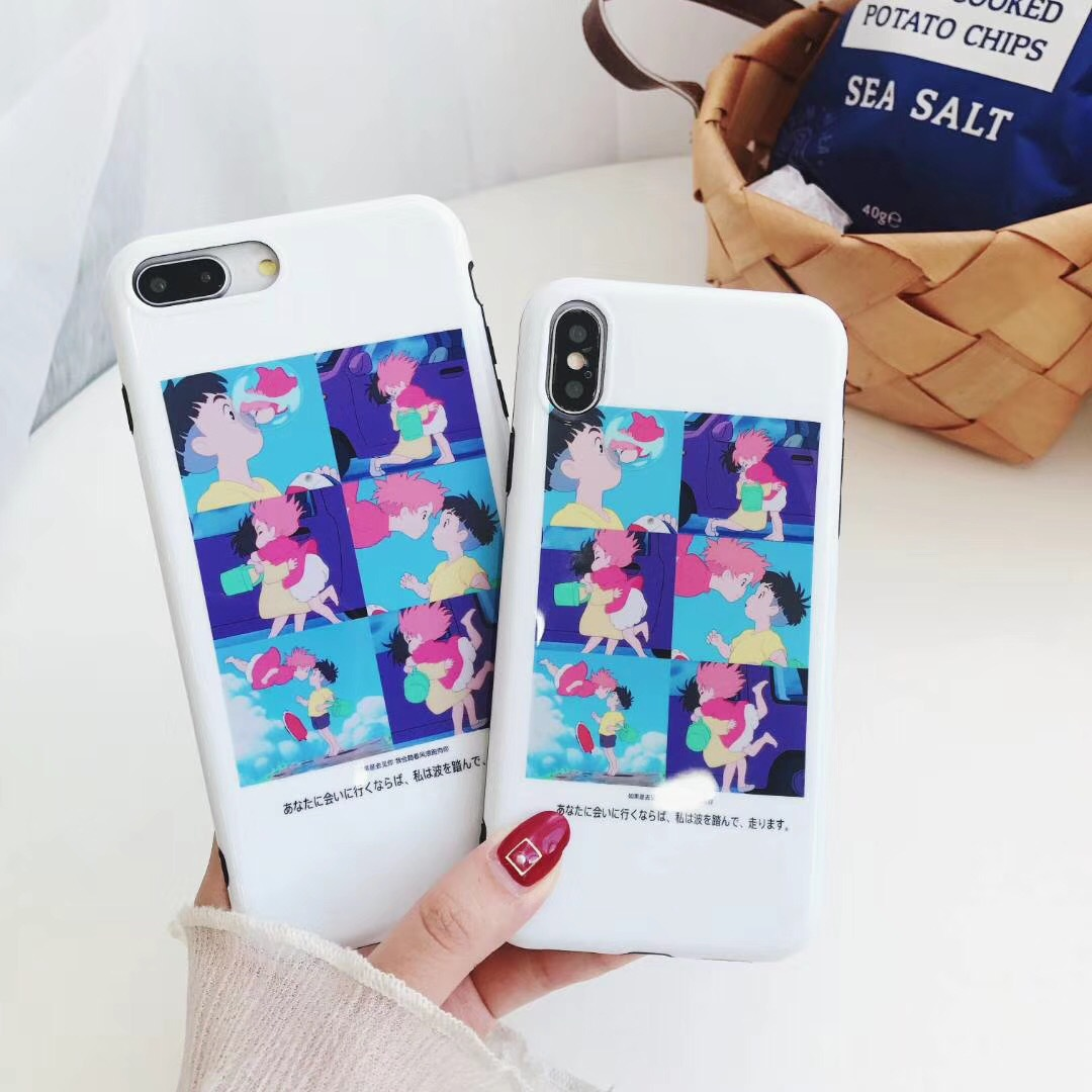 Vibrating sound with the Apple 8X personality creative 6s illustration 7p fun iphone6plus glossy mobile phone shell 8plus