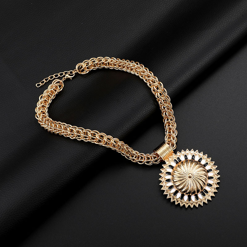 Alloy Fashion Flowers The necklace  (61174413 alloy) NHXS1627-61174413-alloy