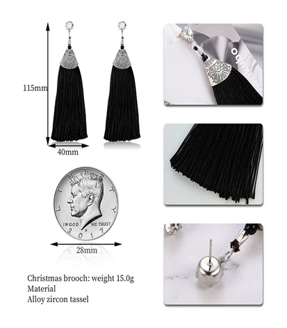 Alloy Fashion Tassel earring  (61189535) NHLP1225-61189535