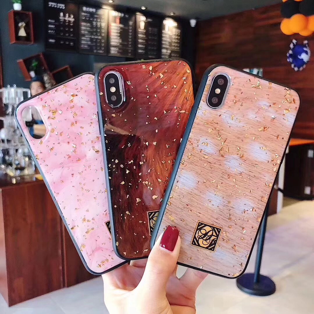 Applicable new creative iPhoneXSM Epoxy pink mobile phone shell Apple 7/8plus Platinum Flower Cover