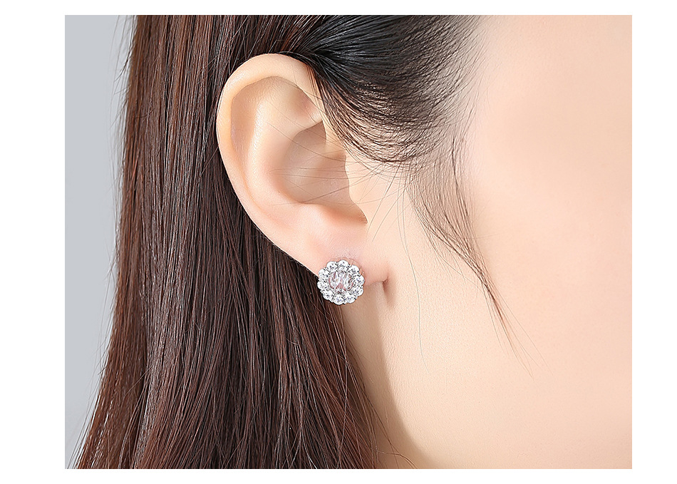 Alloy Simple Geometric earring  platinum NHTM0324platinum