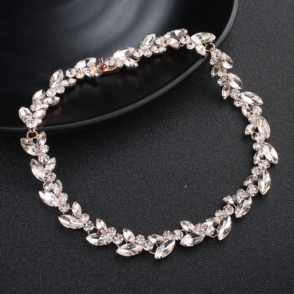 Alloy Fashion Flowers necklace  (Alloy) NHHS0487-Alloy