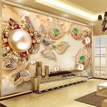 3d电视背景墙壁纸客厅5d立体壁画8d影视墙布现代简约墙纸金色大气