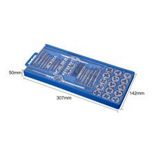40 sets of tap and die sets Small shelves Wire tapping sets of hand tapping tools 40PC metric