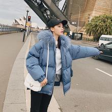 实拍个性侧边拉链短款棉服女2018冬季韩版加厚保暖面包服潮代发