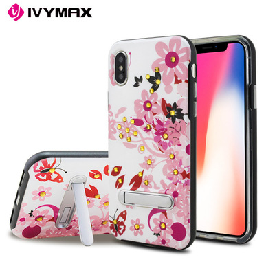 大黄蜂透明支架手机?;ぬ譱phoneX 苹果8plus透明手机壳支架