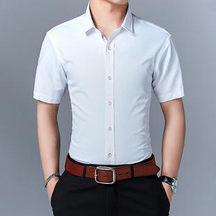 Summer men's short-sleeved shirts, young men, men's shirts, Korean style slim solid color shirts, men's plus size men's wholesale