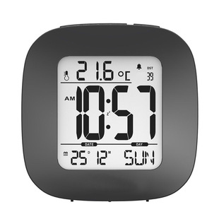 Customized small snooze alarm clock with backlight, temperature display, date calendar, multi-function clock
