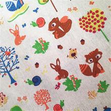 厂家直销亚麻布卡通动画图案适合于桌布抱枕头窗帘抱枕柳编里布