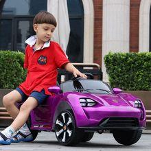儿童电动汽车四轮遥控双驱男女宝宝1-5岁小孩可坐人摇摆充电玩