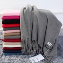 圍巾女冬季韓版百搭仿羊絨秋冬毛線兩用春秋學生長款冬天加厚圍脖