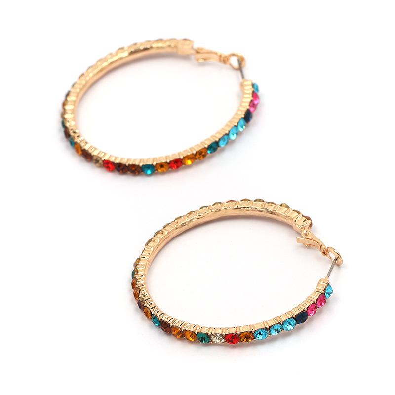 Imitated crystal&CZ Fashion Geometric earring  (white) NHJJ5075-white