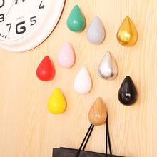 雨滴水滴木质挂钩水珠实木壁挂创意衣帽钩北欧简约风墙面装饰