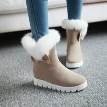 跨境大碼雪地靴平底保暖棉靴外貿貨源40414243速賣通代發