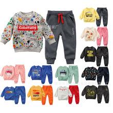 18秋冬新款印花童套装 韩版儿童卫衣套装宝宝两件套 外贸童装批发