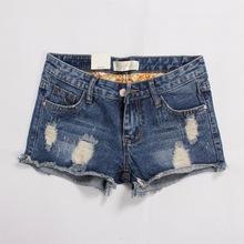 2020新款韓版破洞牛仔短褲女夏季大碼個性創意款淘寶一件批發代理