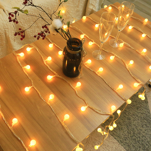 Live background colored lights new year xmas birthday party home decoration fairy led Star lights ball strips lights starry luminous room decoration lights