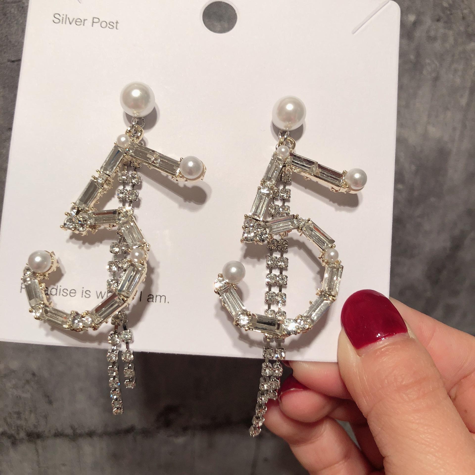 Imitated crystalCZ Korea Geometric earring  Photo Color  Fashion Jewelry NHYQ0704PhotoColor