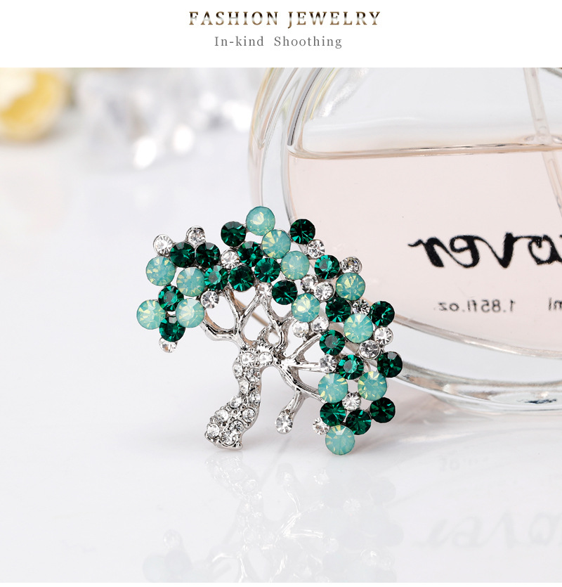 Alloy Simple Flowers brooch  (AL255-A) NHDR2645-AL255-A