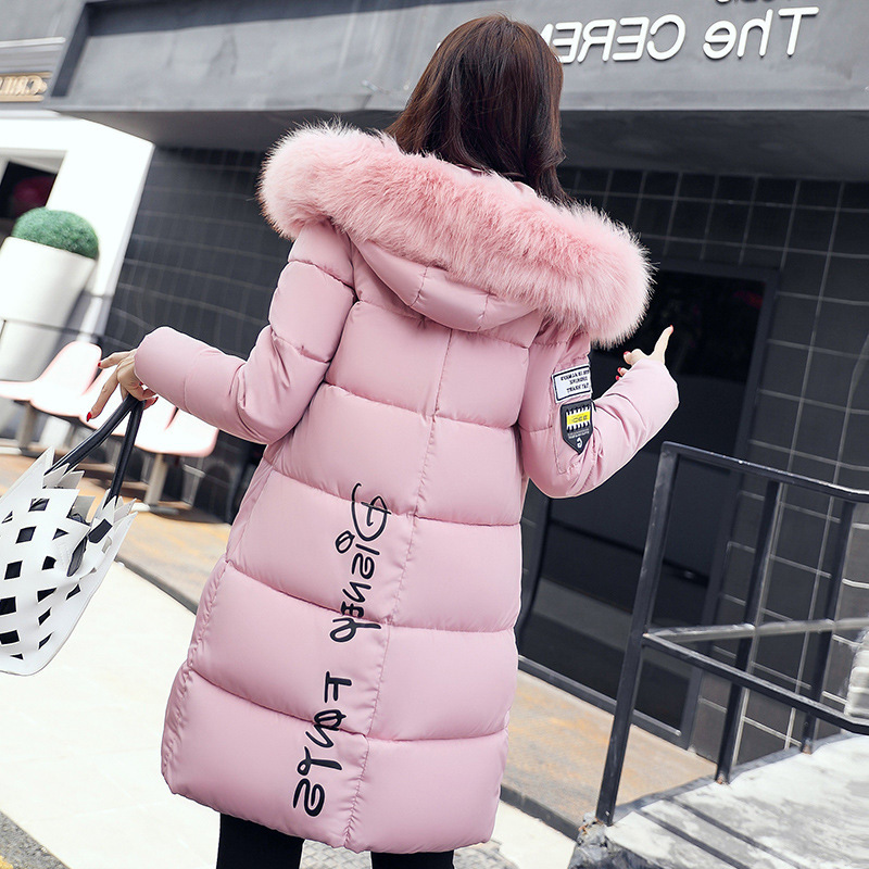 Winter Cotton-padded Clothes For Women's Overcoats European And American Women's Dresses