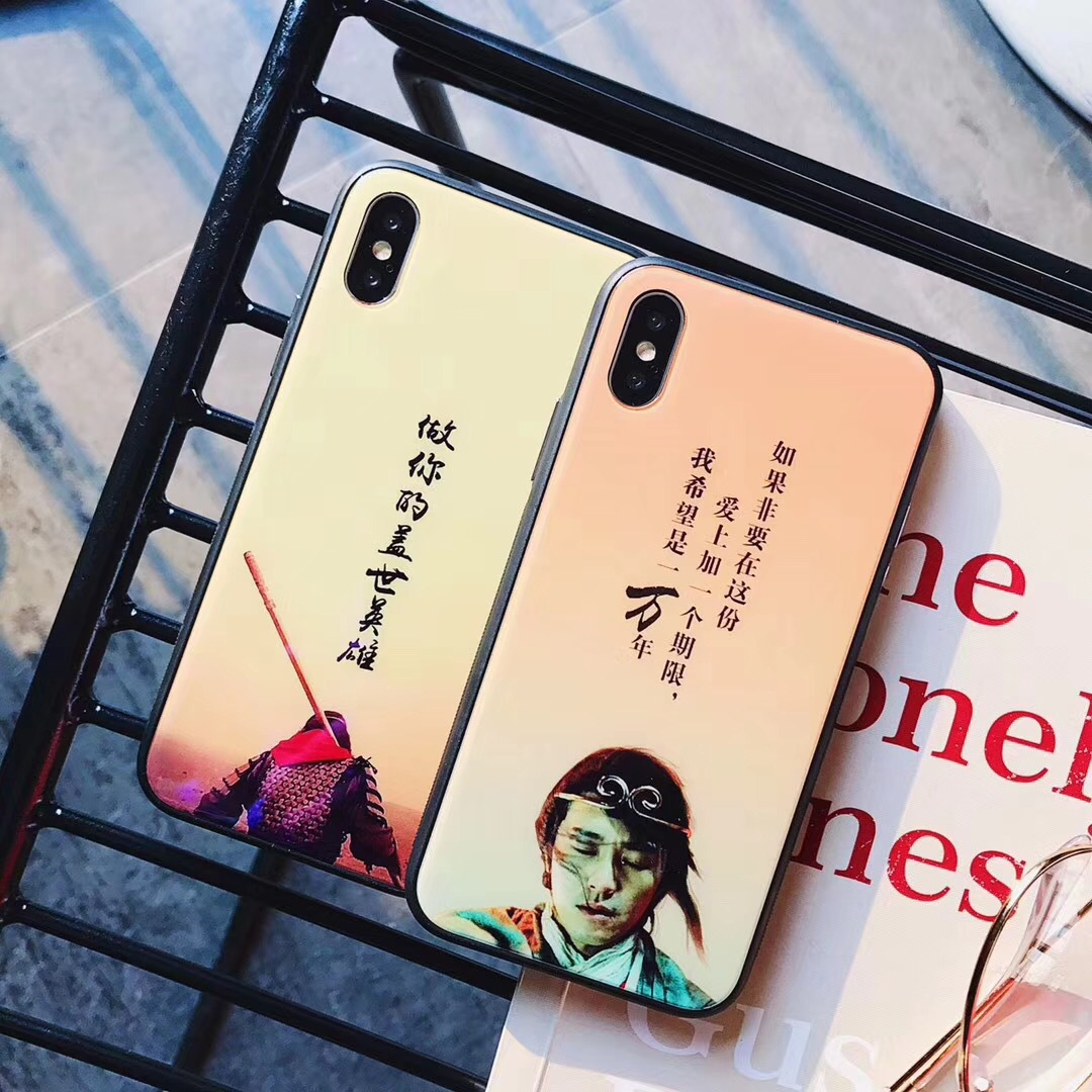 Italian people Heroes 6s glass Apple 7plus protective cover iphoneX mobile phone shell all-inclusive Blu-ray custom