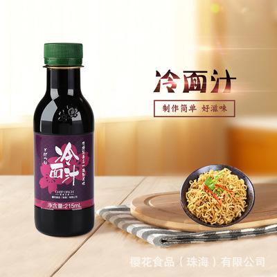櫻花日式蕎麥冷面汁 日本調料冷素面醬 烏冬冷面濃縮湯 215mL