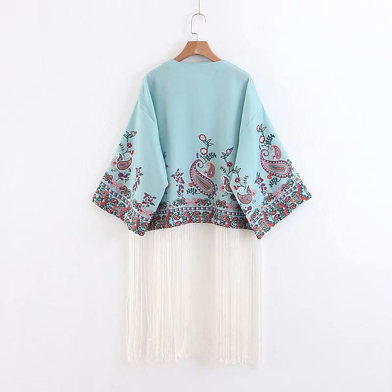 Chiffon Fashioncoat(Picture color -L) NHAM4422-Picture-color-L