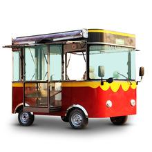 多功能小吃車電動四輪車擺攤快餐美食房車
