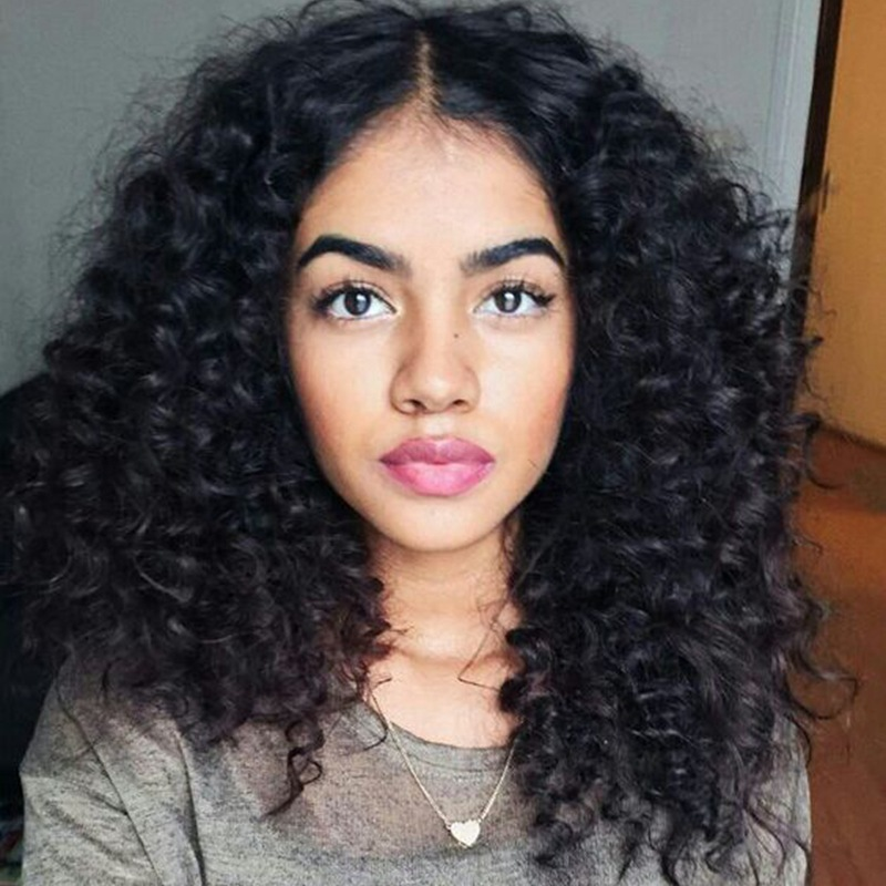 fashion African small curly hairpieces women